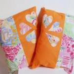 2 Orange Decorative Cover ..